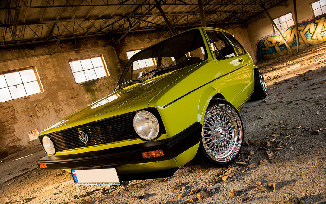VW GOLF MK1 GREEN | JR9 | Chrome