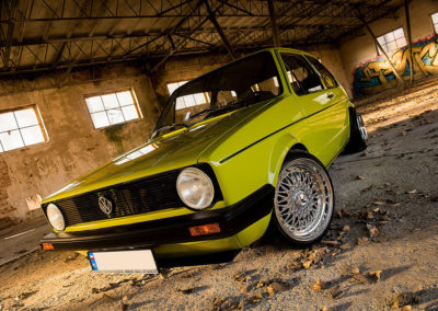 VW GOLF MK1 GREEN | JR9 | Chrome
